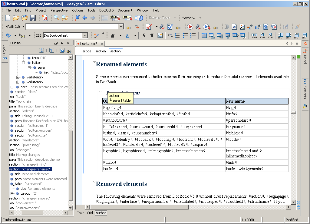how to change the author of a access document